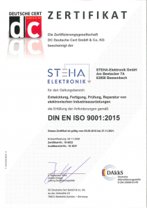 ISO 9001 Zertifikat Abbildung